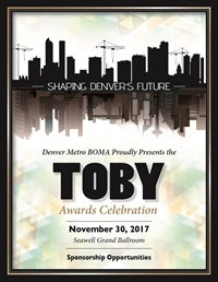TOBY Awards Celebration Sponsorships Are Available!