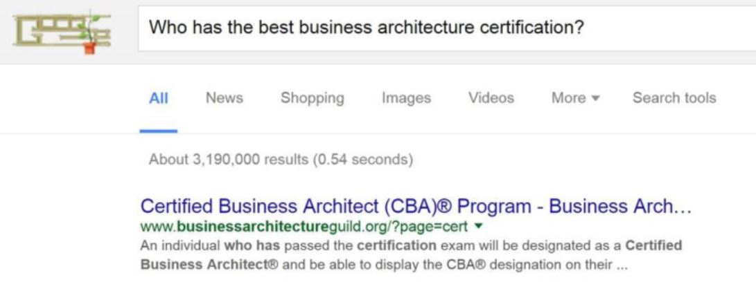 Certified Business Architectcba Program Frequently Asked