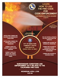 Substandard Conditions and Enforcement as it Relates to the California Fire Code - Buena Park