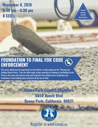 Foundation to Final for Code Enforcement - Buena Park, CA