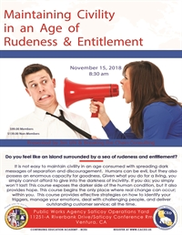 Maintaining Civility in an Age of Rudeness & Entitlement - Ventura, CA
