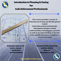 Introduction to Planning & Zoning for Code Enforcement Professionals - Sacramento, CA