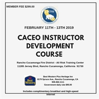 CACEO Instructor Development and Certificate Course - Rancho Cucamonga, CA