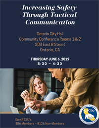 Increasing Safety through Tactical Communication - Ontario, CA