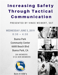 Increasing Safety through Tactical Communication - Buena Park, CA