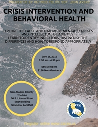 Crisis Intervention and Behavioral Health Training Course - Stockton, CA