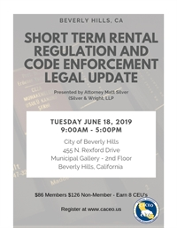 Short Term Rental Regulation & Code Enforcement Legal Update - Beverly Hills, CA