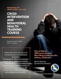 Crisis Intervention and Behavioral Health Training Course - Salinas, CA