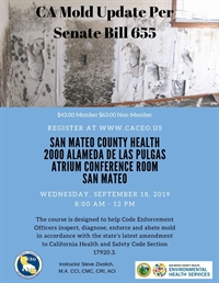 CA Mold Update Per Senate Bill 655 - San Mateo, CA