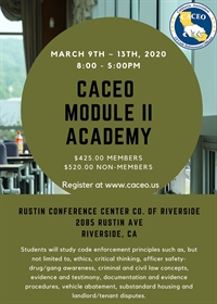 CACEO M2 Academy Course - Riverside, CA