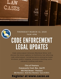 Code Enforcement Legal Updates - Ventura, CA