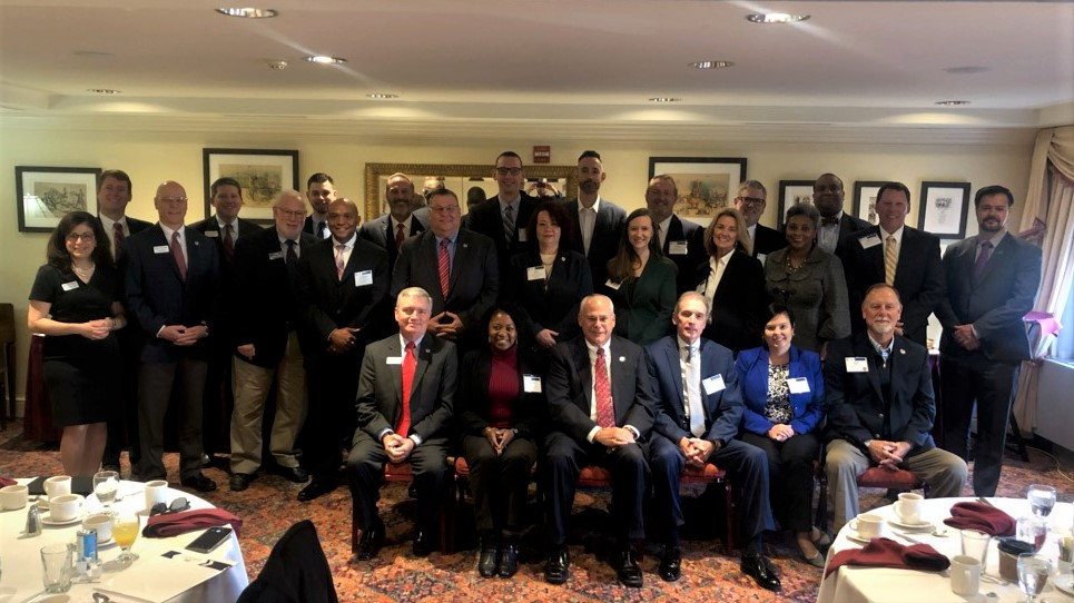 Group photo of credit union advocates at 2019 Hike the Hill