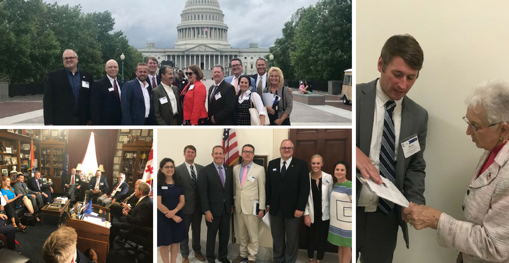 collage of 2018 hike the hill visits