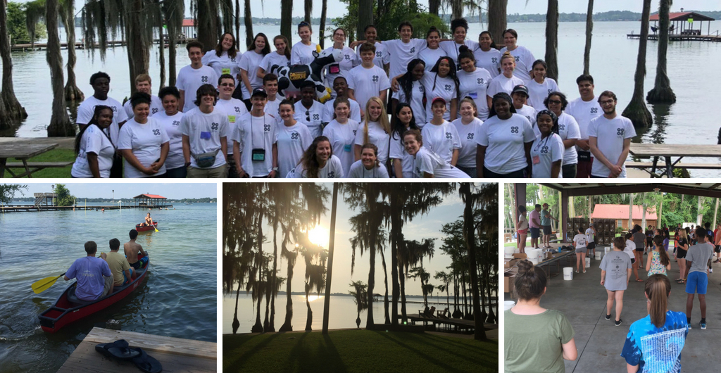 collage of outdoor activities at 2018 CLC