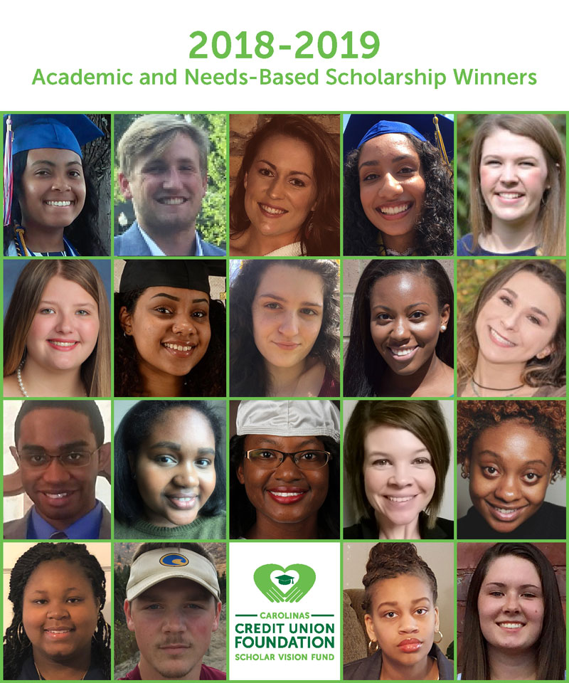 2018-19 Scholar Vision Fund Recipients