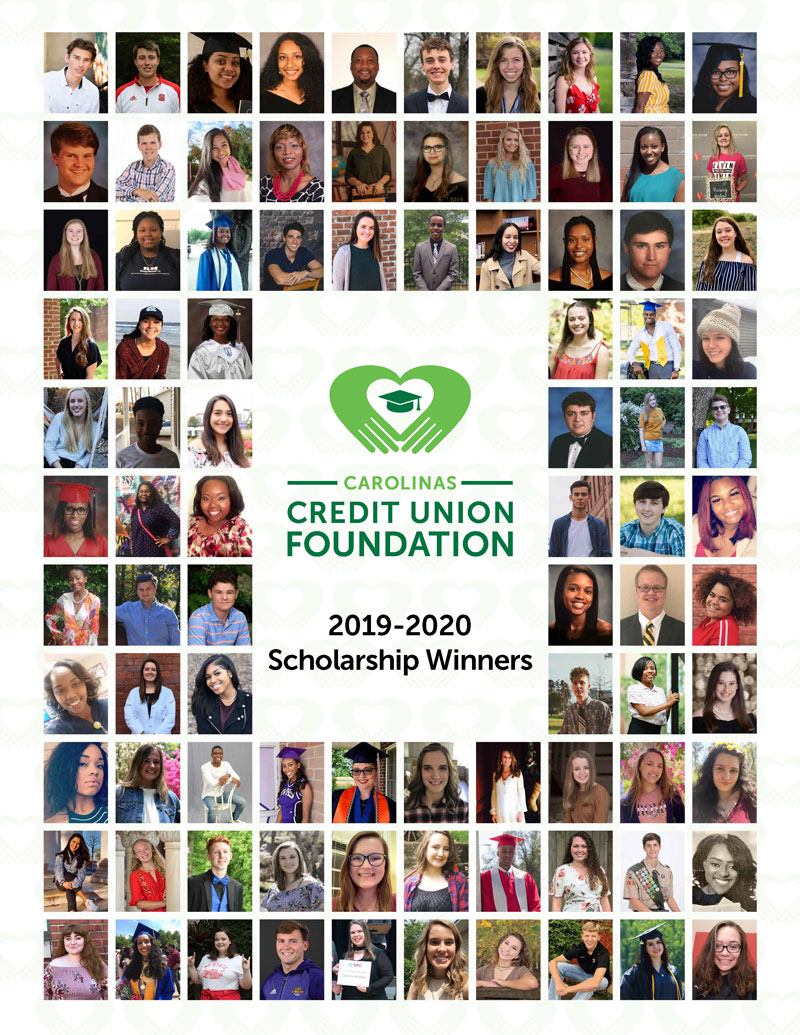 2019-2020 scholarship winners cover