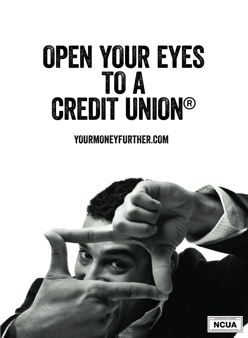 Open Your Eyes to a Credit Union ad example