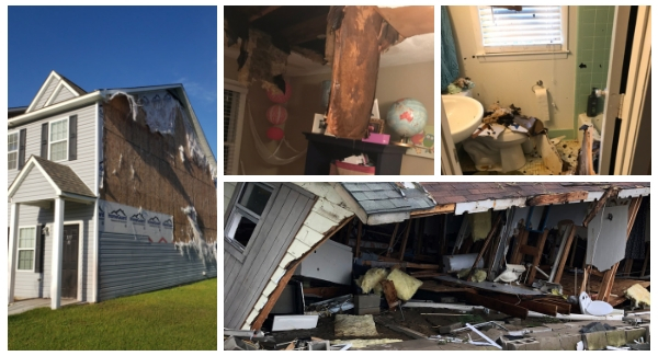 examples of home damage post-florence