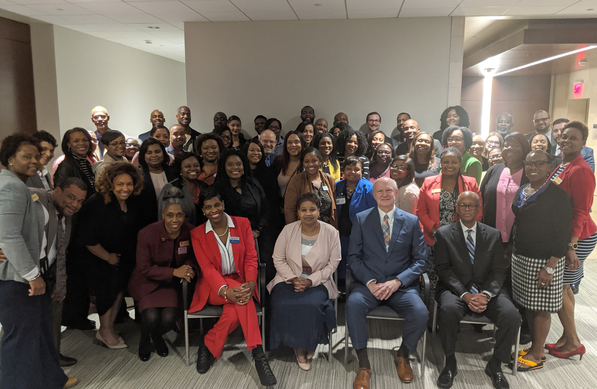 Group photo of attendees at 1Q SRC Chapter Event