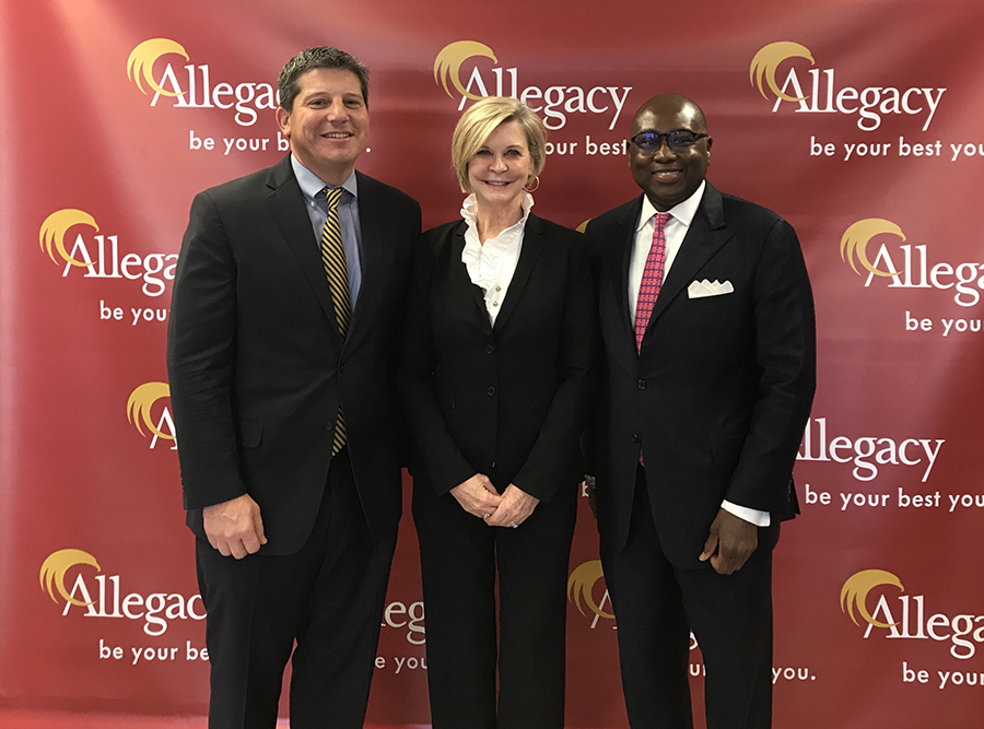 L-R: CCUL CEO Dan Schline, Allegacy CEO Cathy Pace and NCUA Chairman Rodney Hood