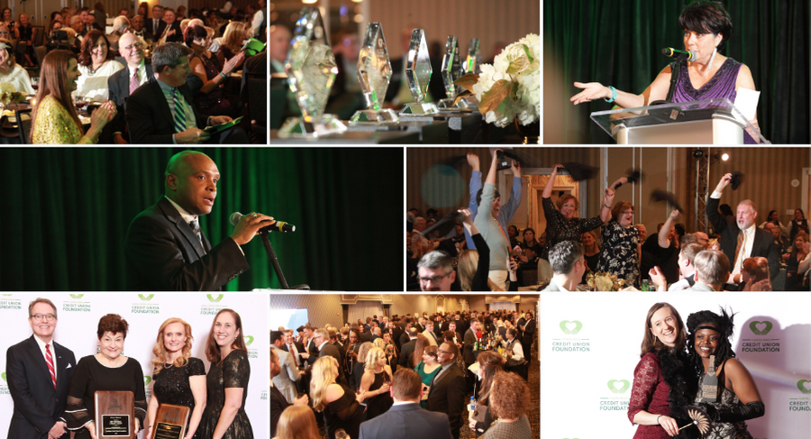 collage of 2019 CCUF Awards Gala at 2020 Launch Conference