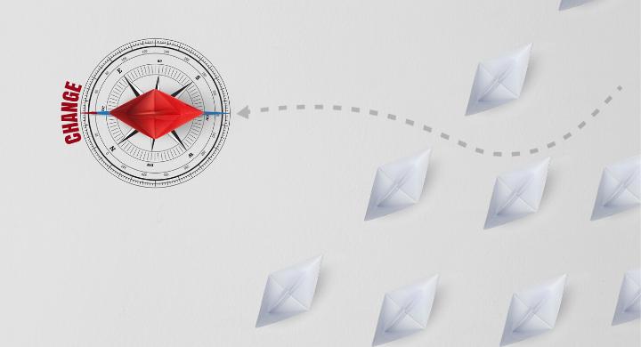 navigating change concept