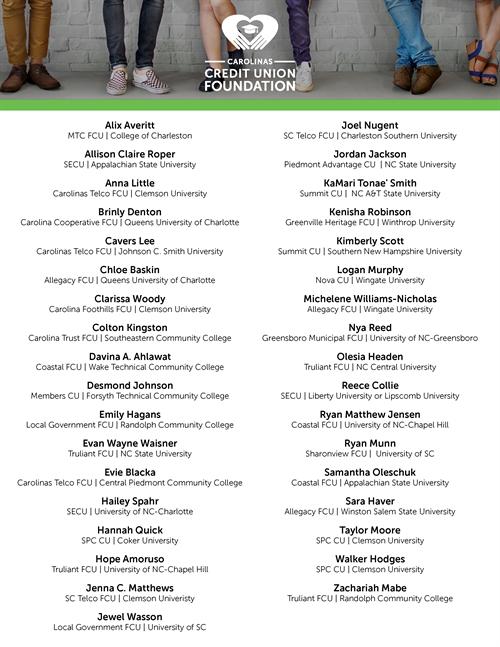 Image of 2020-21 Scholarship Winners