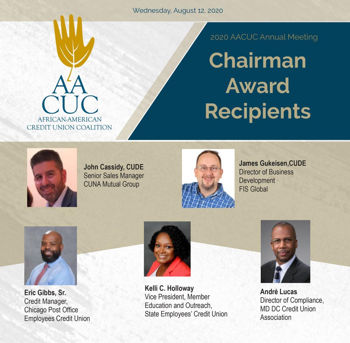 2020 AACUC Chairman Award Recipients