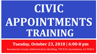 Sacramento County Appointments Training