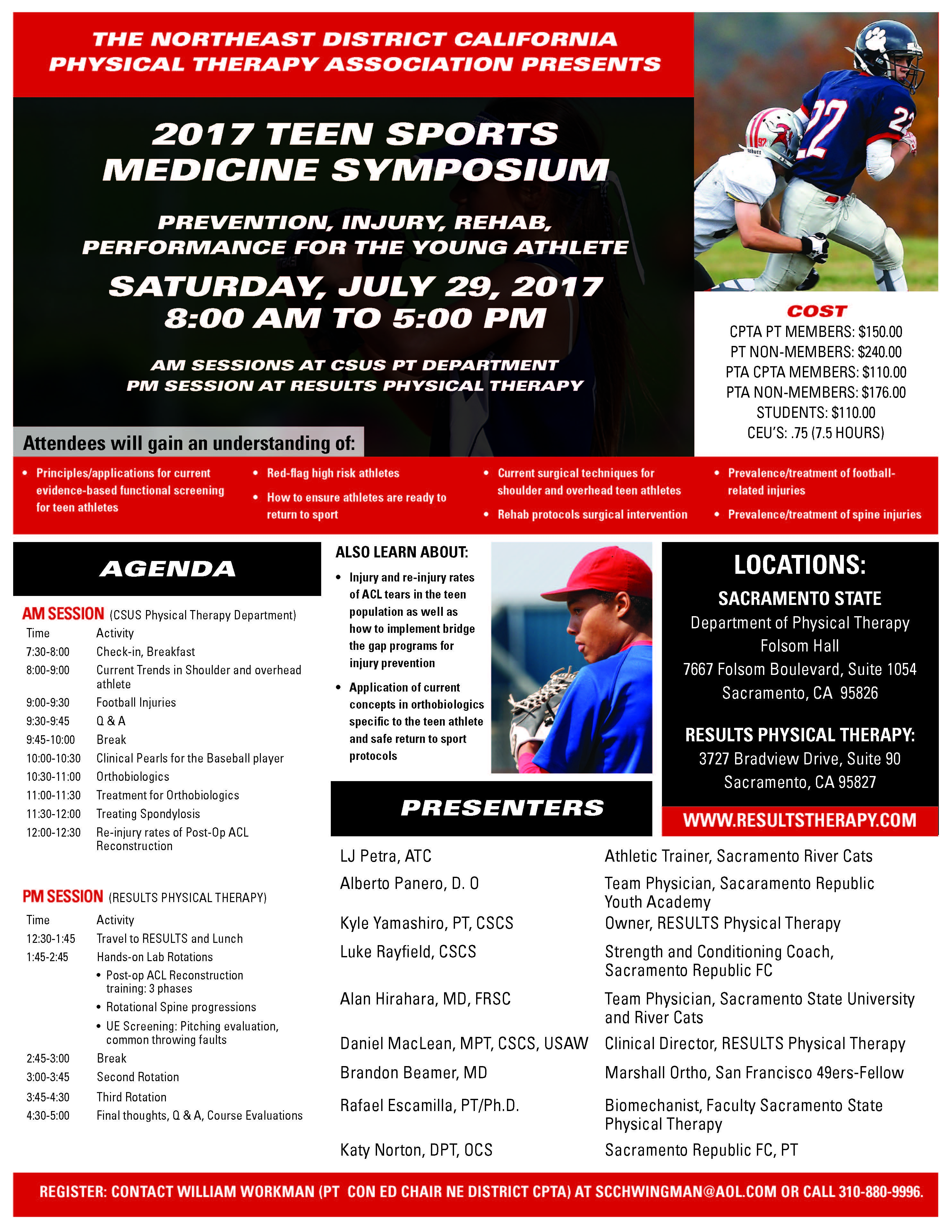 California physical therapy - Event Details