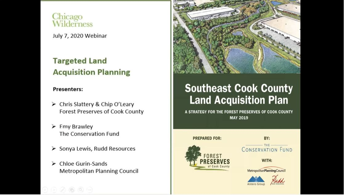 Land acquisition planning in Cook County powerpoint image