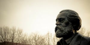 Karl Marx sculpture