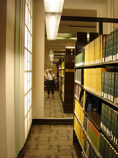 Photo of mirror at Leigh H. Taylor Law Library