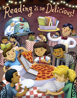 image: Reading is so Delicious poster