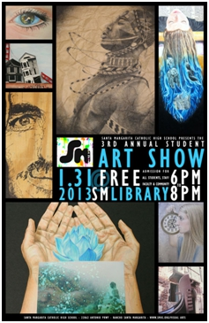 student art show ad