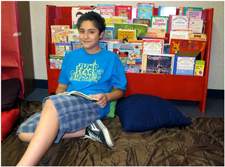photo of child reading