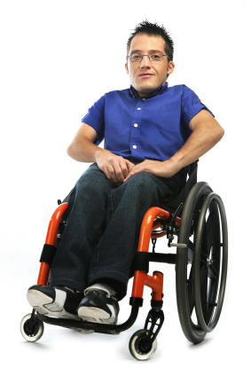 YoungAdult with physical disability in wheelchair
