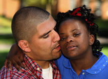 african american dad and daughter