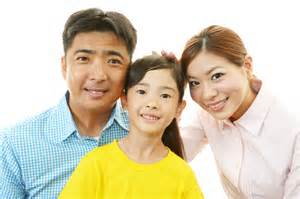 picture of asian mom and dad with child