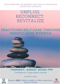 Unplug. Reconnect. Revitalize: Practicing Self-Care through Mindfulness