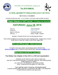 Windy City Chapter -Annual Scholarships Fundraiser:  GOLF OUTING