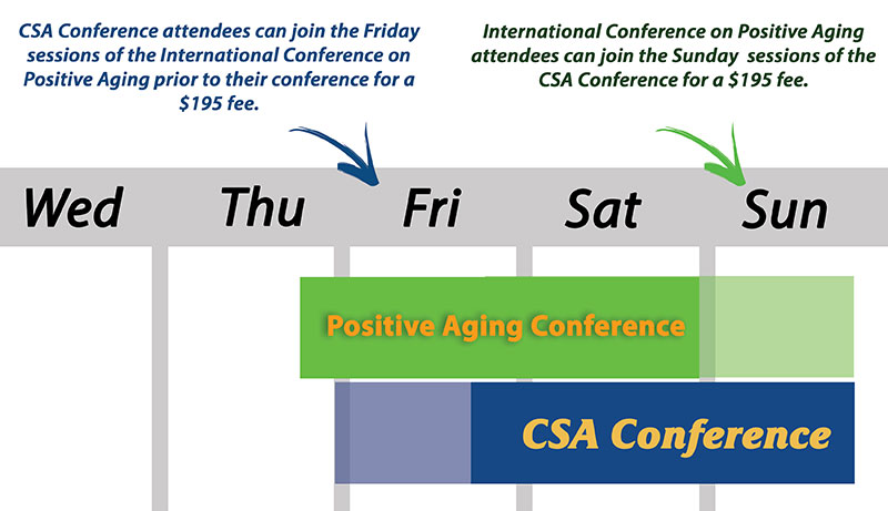 Positive Aging and CSA Conference Schedule