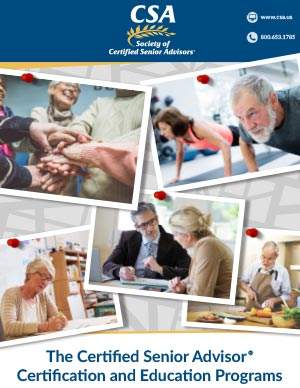 Certified Senior Advisors Educational Program Brochure