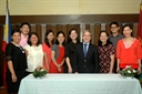 The newly initiated ASO members with Dr. Sam Gladding