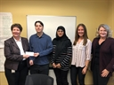Chi Alpha Mu Chapter Donation to Prudence Crandall Domestic Violence Center-New Britain, CT