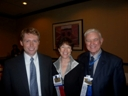Dr. Stephen Kennedy with Drs. Jane Myers and Tom Sweeney