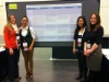 Kali, Kim, Maralee, and My Thanh at the poster sessions with their cross-discipline poster on counseling advocacy.