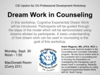 Dream Work in Counseling