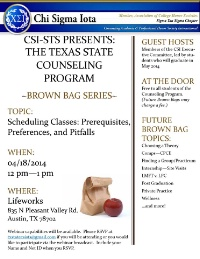 CSI-STS Brown Bag Series