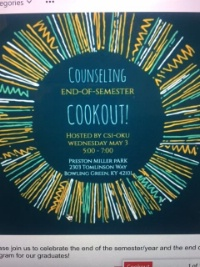 Counseling End-of-semester Cookout